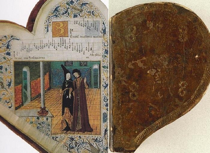 Средневековый песенник Chansonnier de Jean de Montchenu, 1475 год.