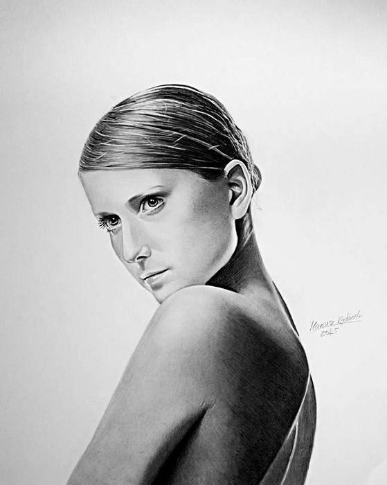 Портрет девушки, выполненный Mariusz Kedzierski.