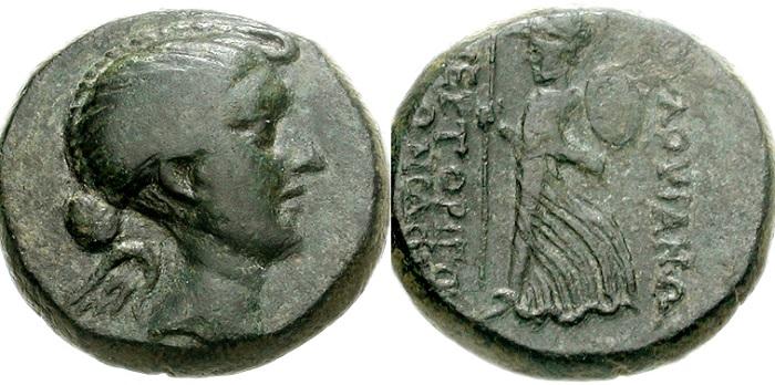 Древнеримские монеты с профилем Фульвии. | Фото: ru.wikipedia.org.
