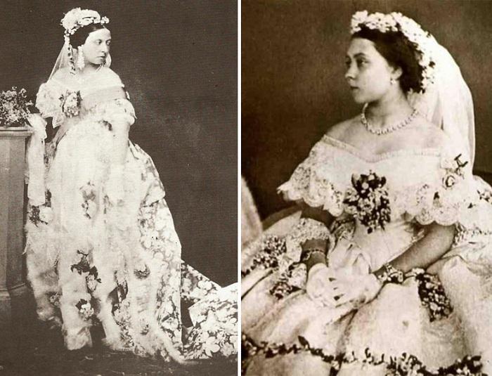 Реконструкция свадебного фото Королевы Виктории и Принца Альберта. | Фото: yesiltopuklar.com.