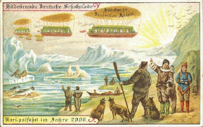 Дирижабли на Северном полюсе.