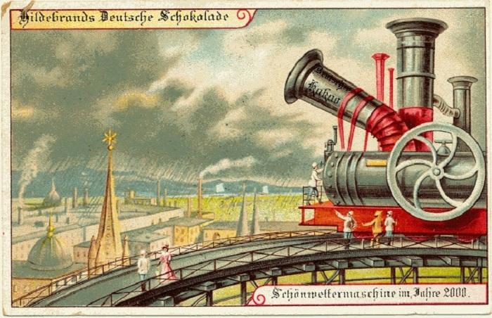 Представления о будущем людей в 1900 году. Машина контроля погоды.