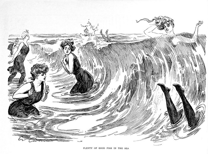Девушки Гибсона купаются. | Фото: szhaman.livejournal.com.