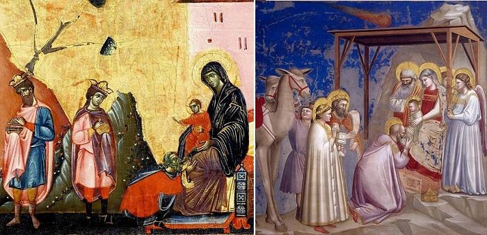 Поклонение волхвов. Изображения картины в Средневековье и раннем Ренессансе.