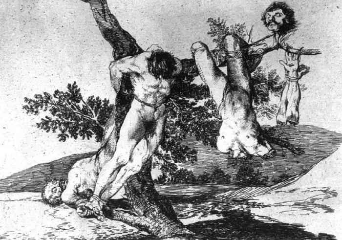 Бедствия войны. Ф. Гойя, 1810-1820 гг. | Фото: mif-medyza.ru.