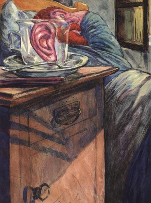 Знаменитое ухо Винсента Ван Гога. | Фото: facebook.com.