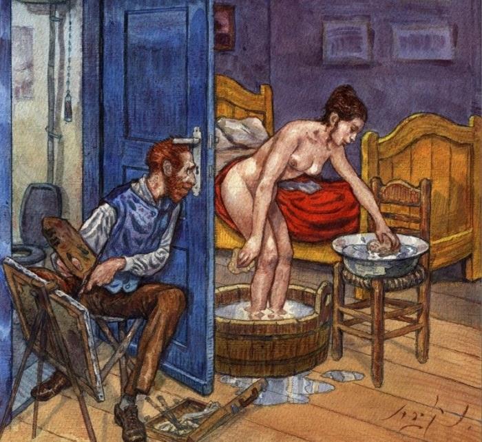 Забавные «похождения» Ван Гога. | Фото: tanjand.livejournal.com.