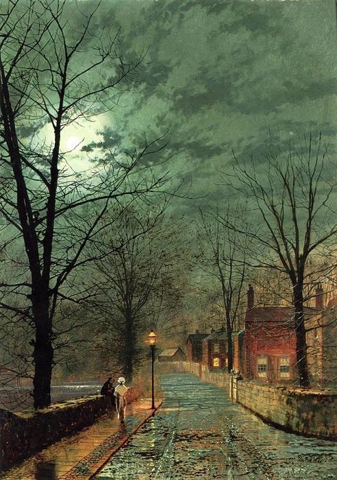 Сплетни. Бончерч, остров Уайт. Д. Э. Гримшоу, 1880 год. | Фото: fiveminutehistory.com.