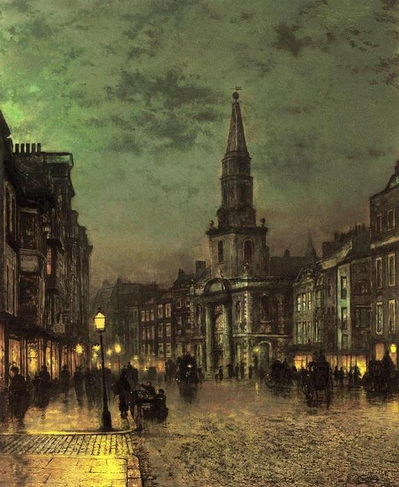 Блэкмен-стрит, Боро, Лондон. Д. Э. Гримшоу, 1885 год. | Фото: fiveminutehistory.com.