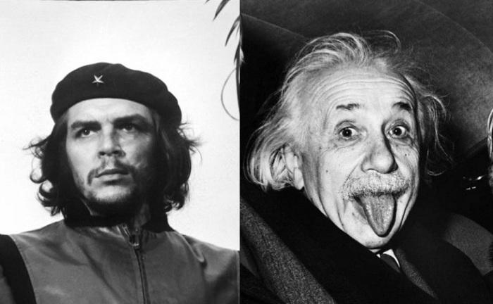 Эрнесто Че Гевара и Альберт Эйнштейн.