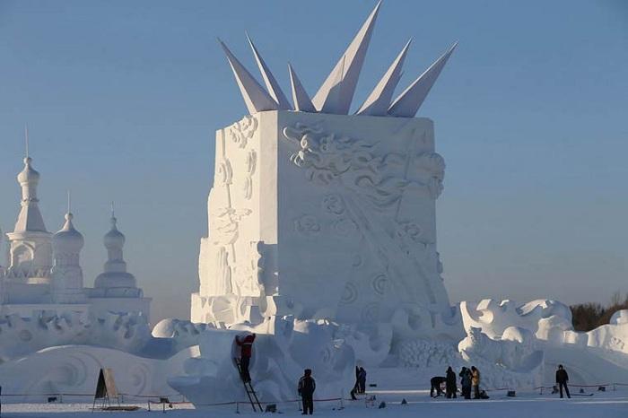 Самый масштабный фестиваль скульптур из снега и льда пройдет в Китае.