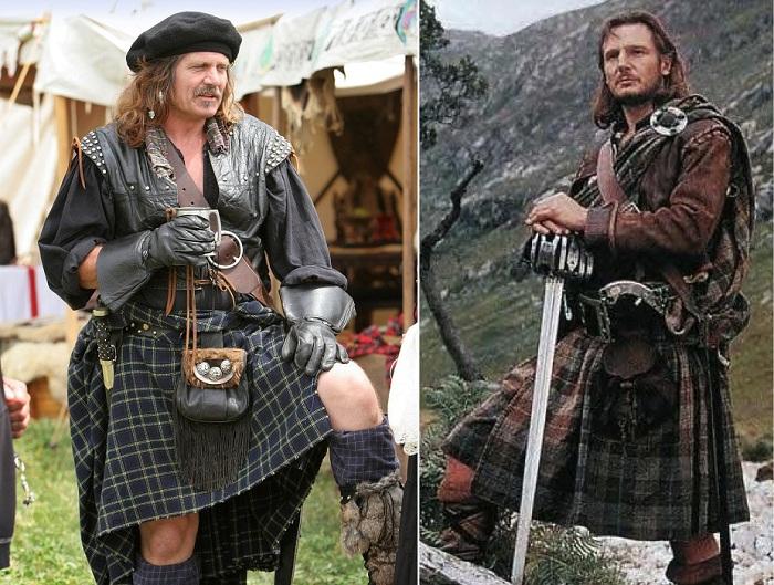 Килт - национальный предмет одежды шотландцев.
