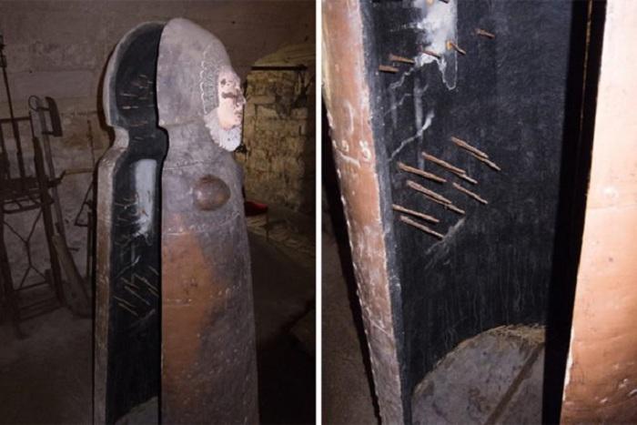 «Железная дева», хранящаяся в замке Чиллингем, Англия. | Фото: thevintagenews.com.