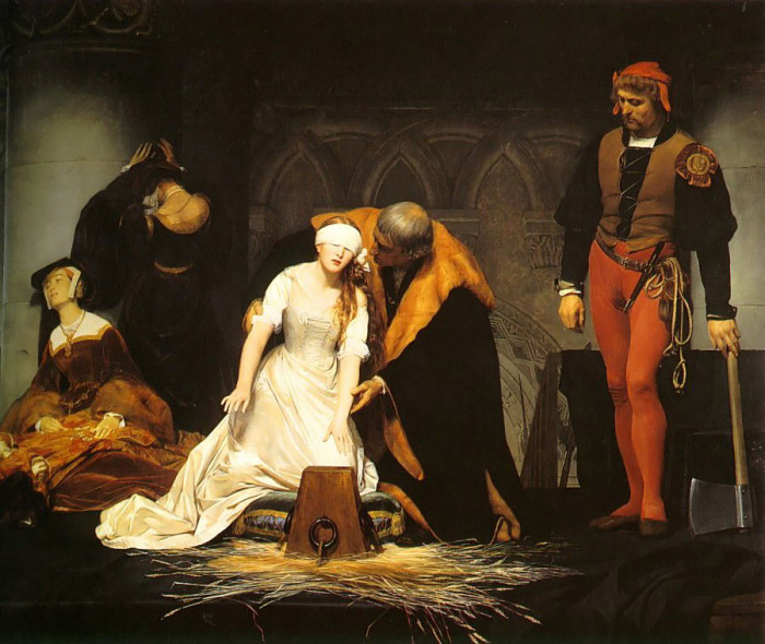 Казнь Джей Грей. Поль Деларош, 1833 год. | Фото: artchive.ru