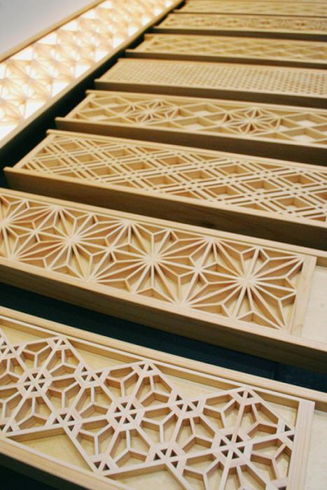 Kumiko - мозаика из деревянных кусочков
