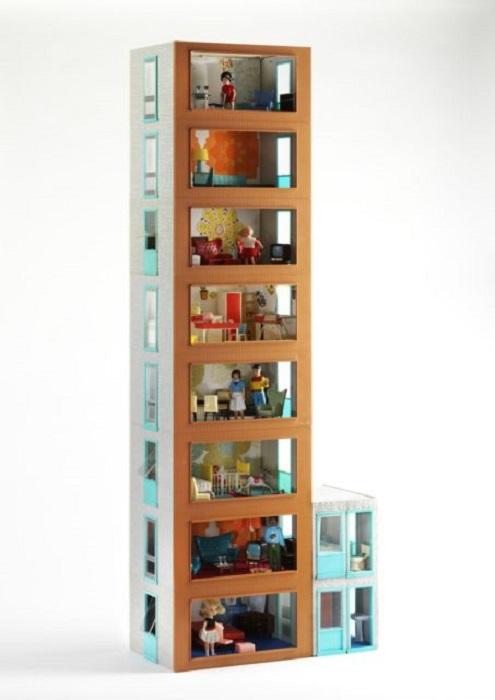 Кукольная многоэтажка 1960: Jenny's Home.
