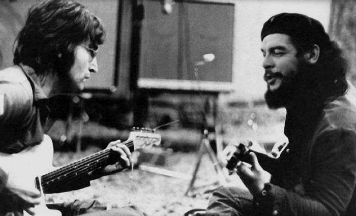Фейковое фото Джона Леннона и Эрнесто Че Гевары. | Фото: forums-su.com.