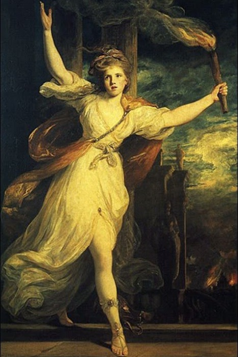 Таис поджигает Персеполь. Джошуа Рейнольдса, 1781 год. | Фото: storyfiles.blogspot.com.