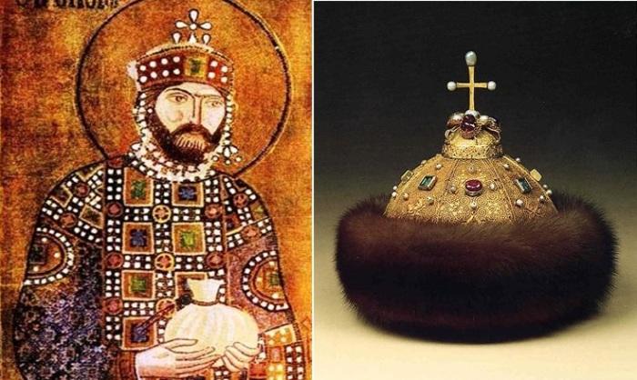 Император Константин IX Мономах и шапка Мономаха.