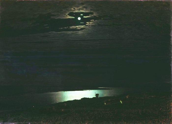 Лунная ночь на Днепре. Архип Куинджи, 1880 год. | Фото: diletant.media.