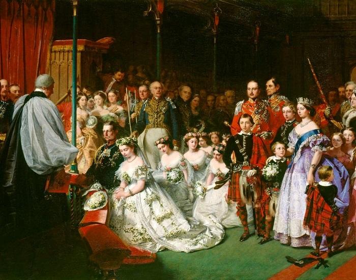 Свадьба принцессы Виктории 25 января 1858 года. John Phillip. | Фото: fiveminutehistory.com.