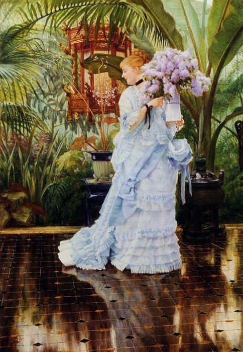 Букет сирени. James Tissot, 1875 год. | Фото: fiveminutehistory.com.