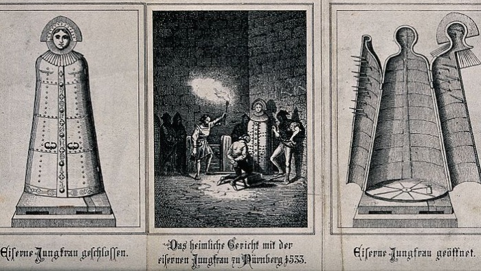 Устройство «Железной девы». | Фото: commons.wikimedia.org.