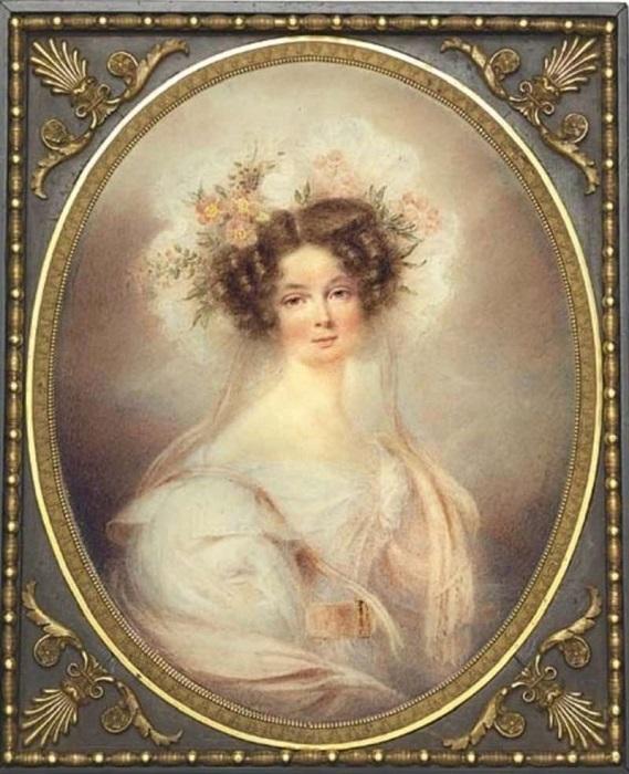 Княгиня Дарья Ливен. Жан-Батист Изабе, 1820-е гг. | Фото: upyourpic.org.