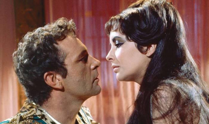 Элизабет Тейлор и Ричард Бартон в к/ф «Клеопатра».