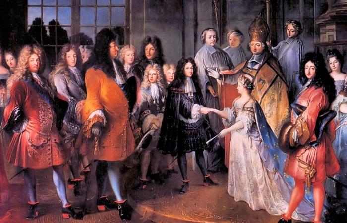 Двор Людовика XIV. | Фото: marriage-celebrant.com.au.