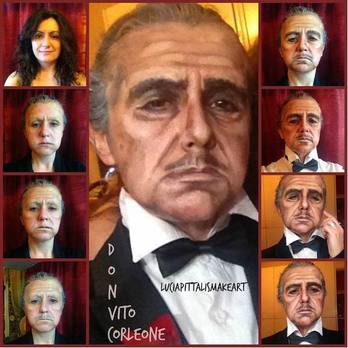 Lucia Pittalis в образе Дона Корлеоне.