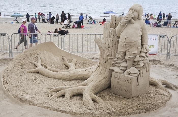 Шедевр из песка.