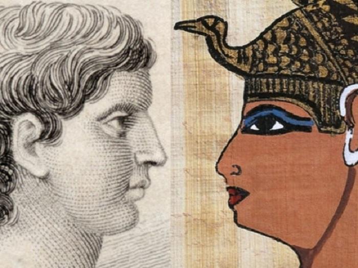Марк Антоний и Клеопатра.