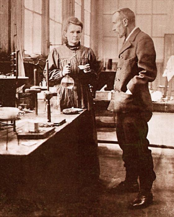 Мария Склодовская и Пьер Кюри.
