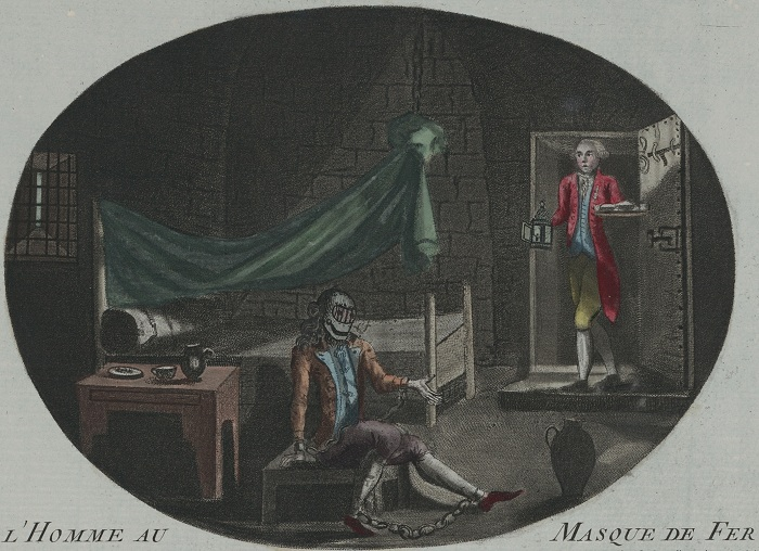 Узник в железной маске на анонимной гравюре времён Французской революции (1789). | Фото: ru.wikipedia.org.