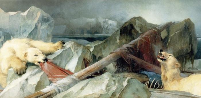 «Человек предполагает, а Бог располагает». Картина, посвященная трагической экспедиции Франклина. Худ. Эрвин Генри Ландсир, 1864 г. | Фото: ru.wikipedia.org.