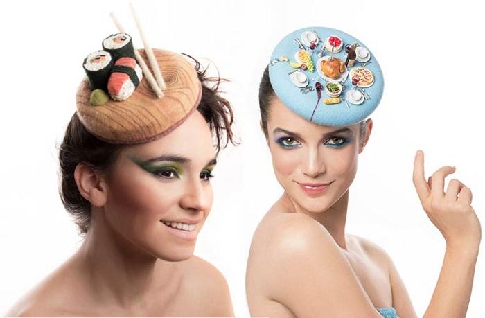 Шляпки-таблетки в «кулинарном» стиле.
