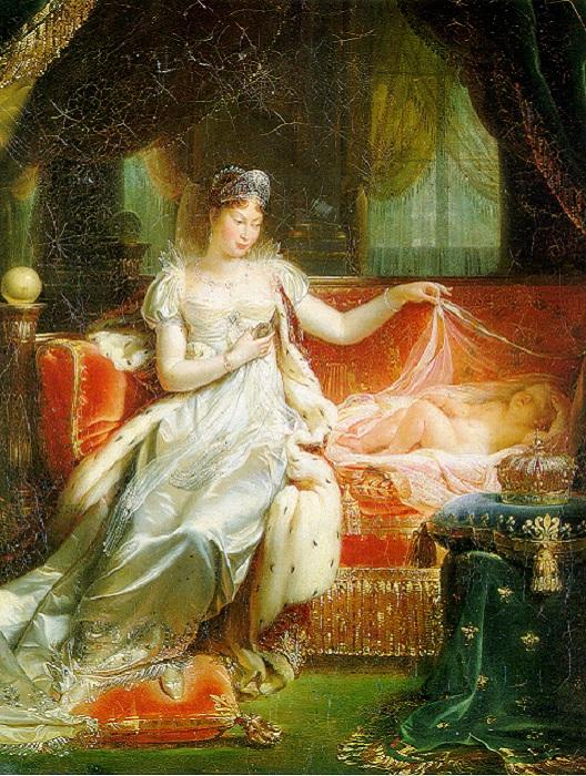 Императрица Мария-Луиза с сыном. Joseph Franque, 1812 год. | Фото: arvenundomiel.dreamwidth.org.