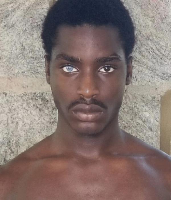 Мехи Аланте Лаки (Mekhi Alante Lucky) - парень гетерохромией глаз. | Фото: tr.sputniknews.com.