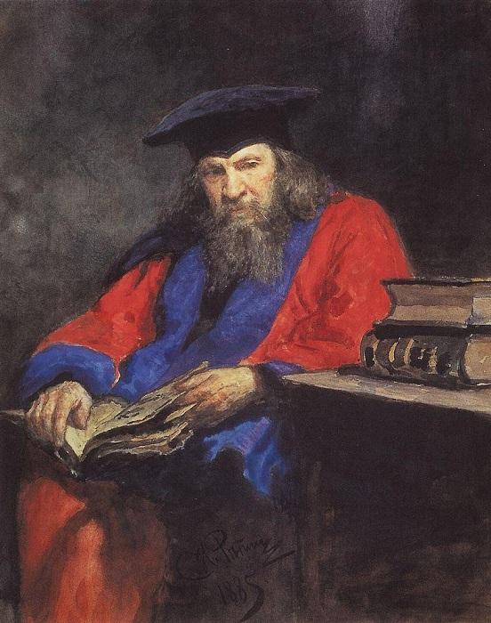 Менделеев Д. И. в мантии доктора права Эдинбургского университета. | Фото: people.su.
