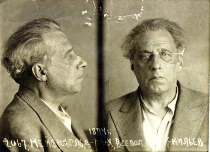 Фотография Мейерхольда, арестованного НКВД в 1939 году. | Фото: ru.wikipedia.org.