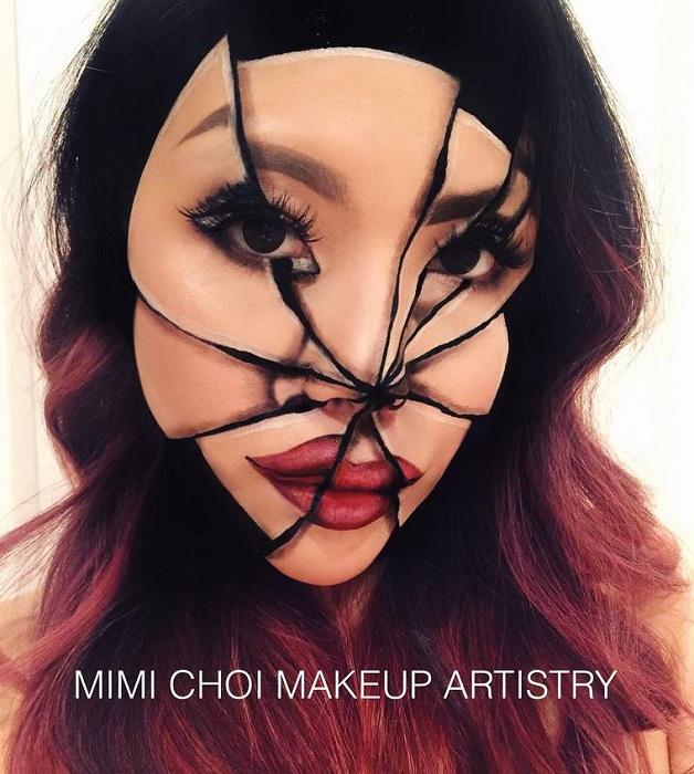 «Разбитое» лицо Mimi Сhoi. | Фото: ufunk.net.