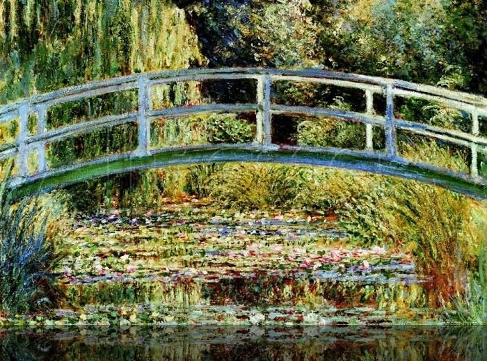 Японский мостик (Пруд с водяными лилиями), светло-синий. Клод Моне, 1899 год.  | Фото: philoboulot.fr.