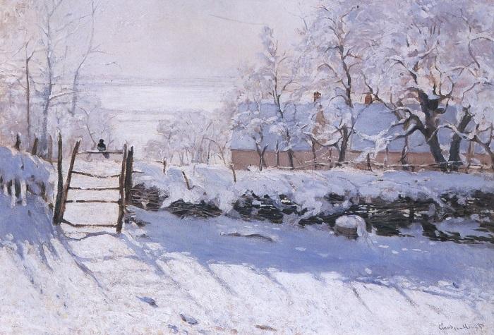 Сорока. Клод Моне, 1868-1869 гг.   Фото: ru.wikipedia.org.