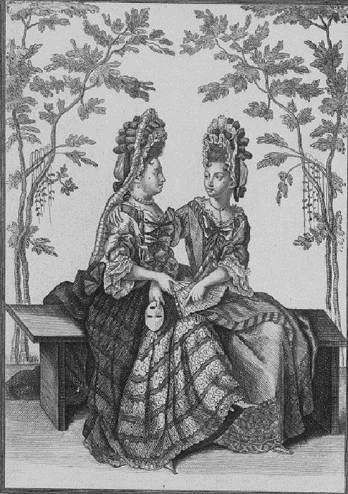 Дамы XVII века с мушками на лицах. | Фото: ru.wikipedia.org.