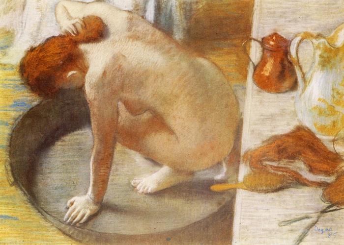 Ванна. Эдгар Дега, 1886 год.