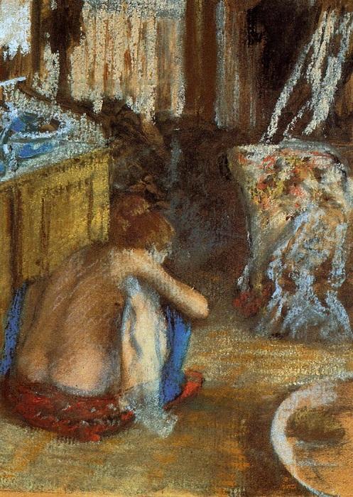 Женщина на корточках. Эдгар Дега,1879 год.