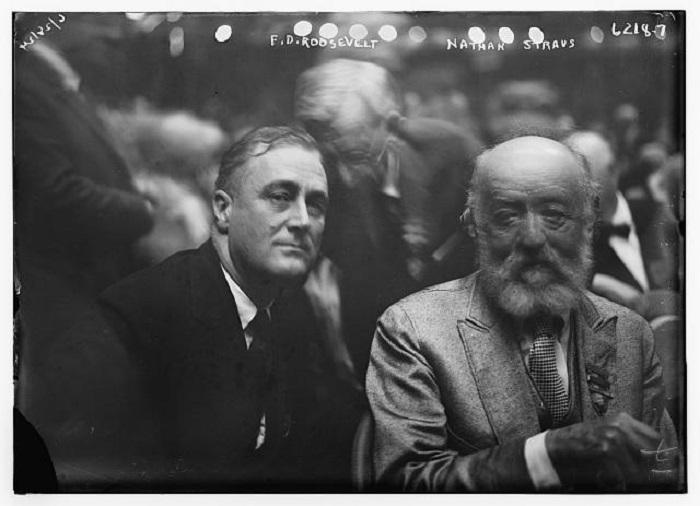 Франклин Рузвельт и Натан Штраус. | Фото: straushistoricalsociety.org.