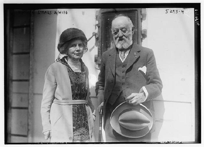 Натан Штраус с супругой. | Фото: straushistoricalsociety.org.