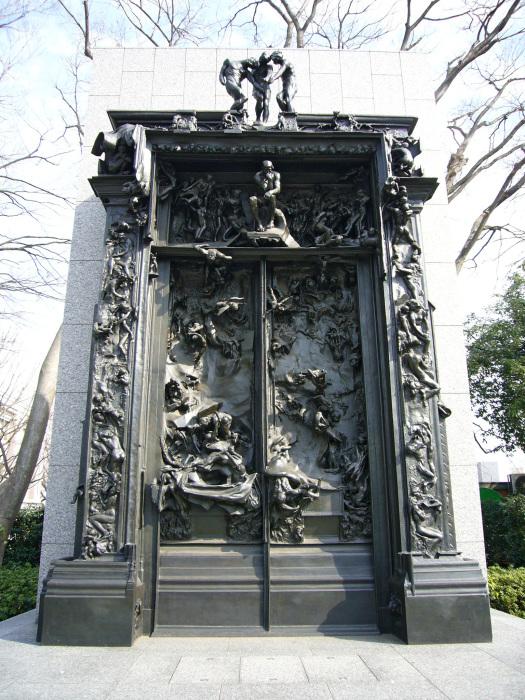 «Врата Ада», отлитые уже после смерти скульптора.